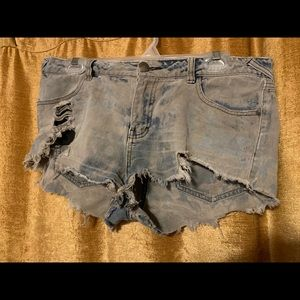 Free people super distressed shorts